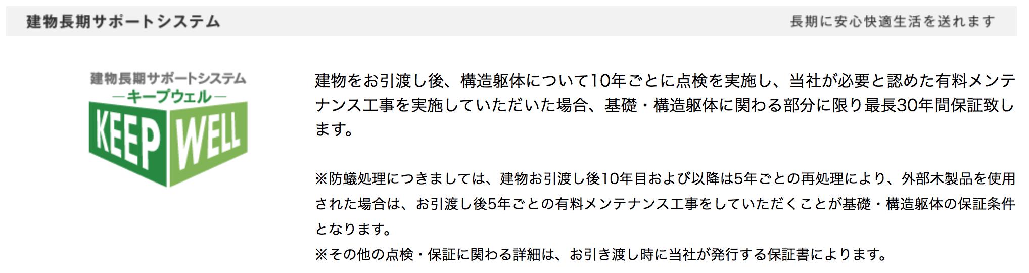 三井ホームの建物長期サポートシステム