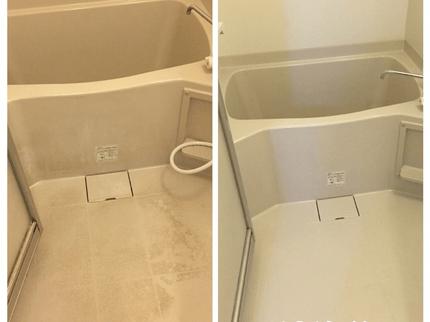 物件の浴槽部分の清掃before/after