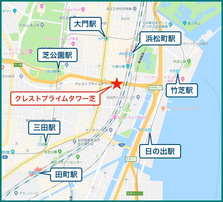 クレストプライムタワー芝の地図