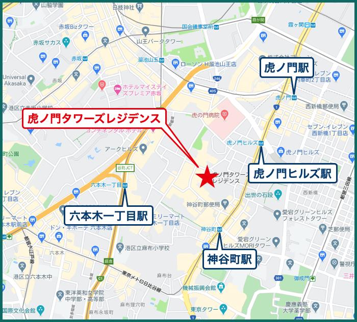 虎ノ門タワーズレジデンスの地図