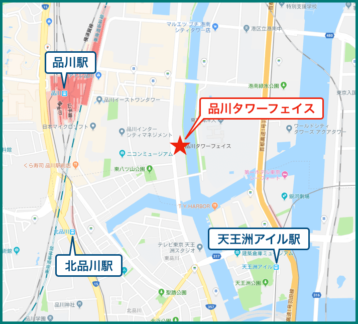 品川タワーフェイスの地図
