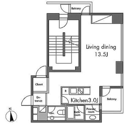 レジディアタワー麻布十番ワンルームのイメージ