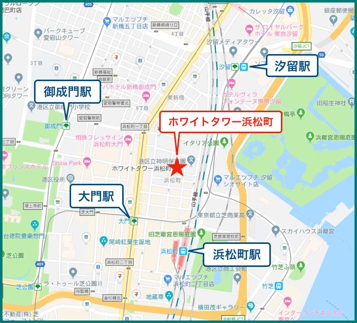 ホワイトタワー浜松町の地図