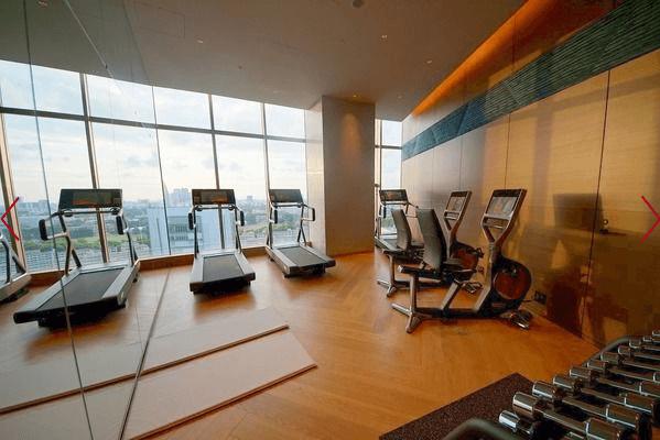 パークコート青山ザ・タワーのフィットネスルーム