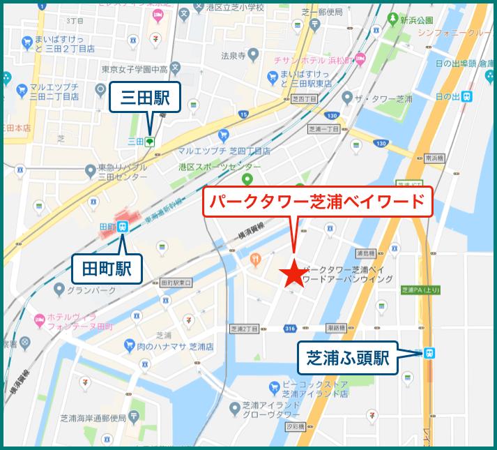 パークタワー芝浦ベイワードの地図