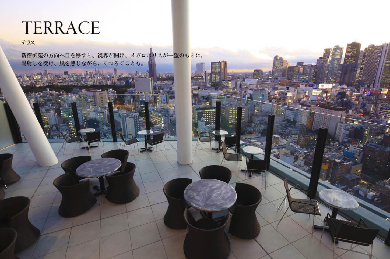 コンフォリア新宿イーストサイドタワーのテラス