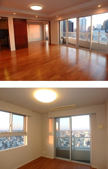 ファーストリアルタワー新宿の室内