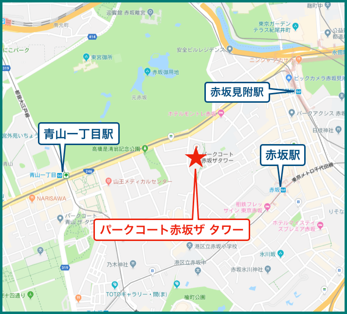 パークコート赤坂ザ タワーの地図