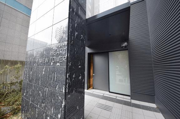 品川ハートビュータワーのエントランス