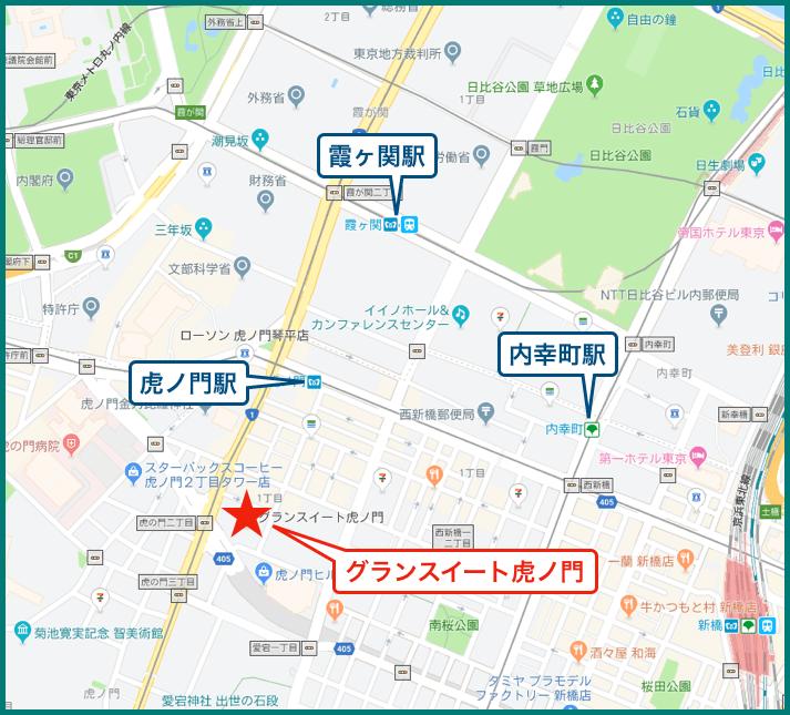 グランスイート虎ノ門の地図