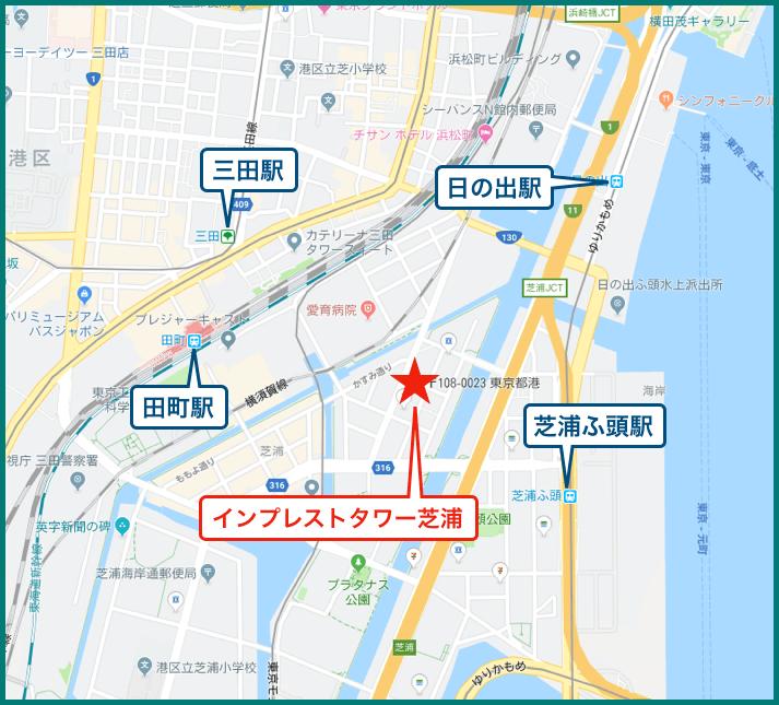 インプレストタワー芝浦エアレジデンスの地図