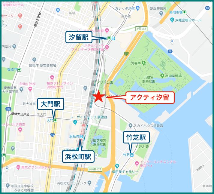 アクティ汐留の地図