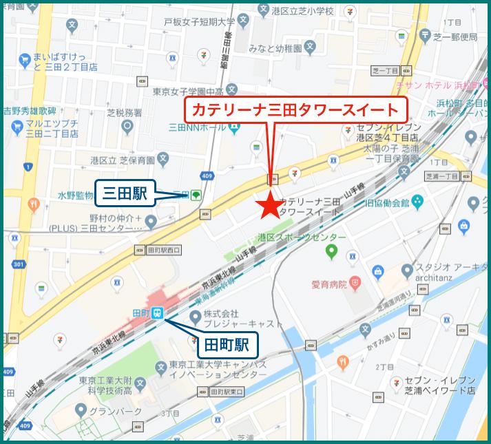 カテリーナ三田の地図