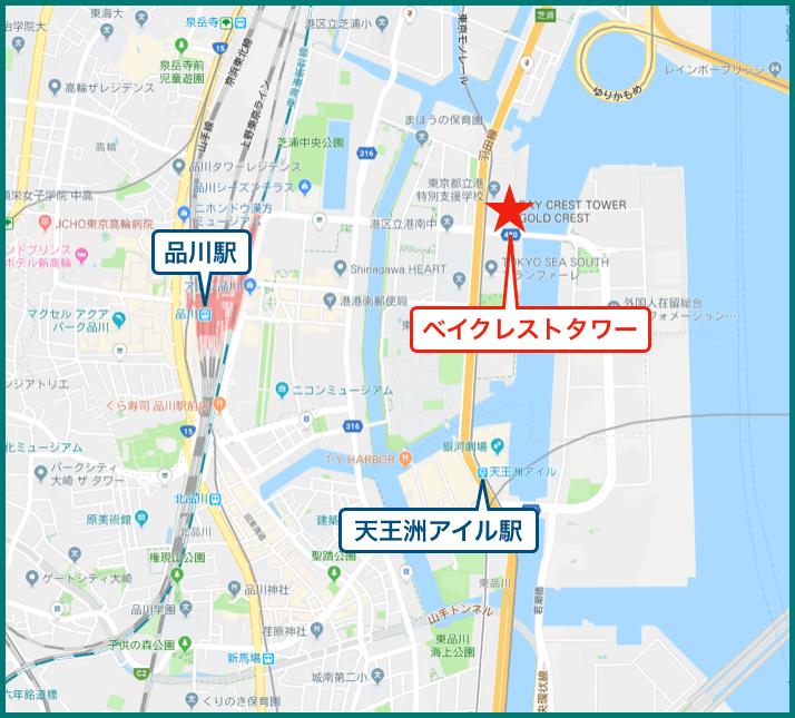 ベイクレストタワーの地図