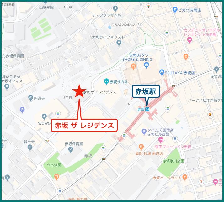 赤坂 ザ レジデンスの地図