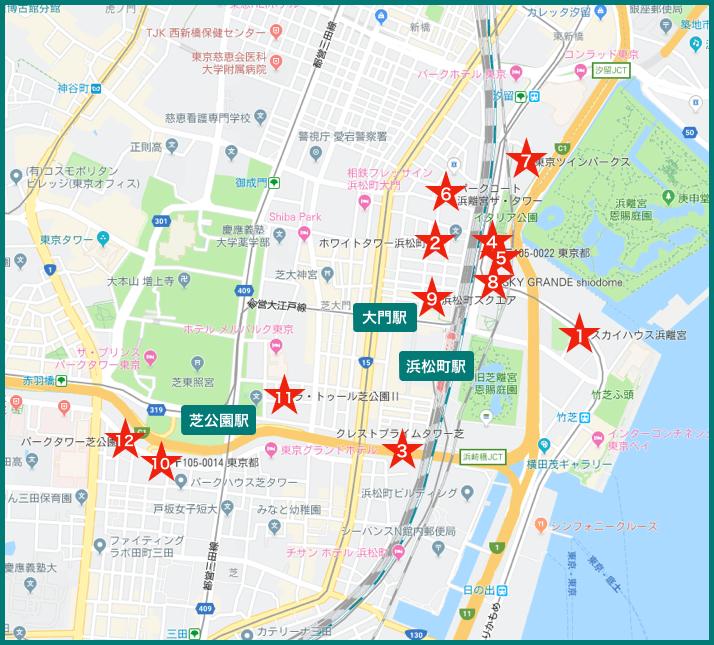 浜松町 タワーマンションの地図
