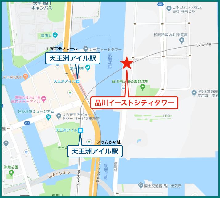 品川イーストシティタワーの地図