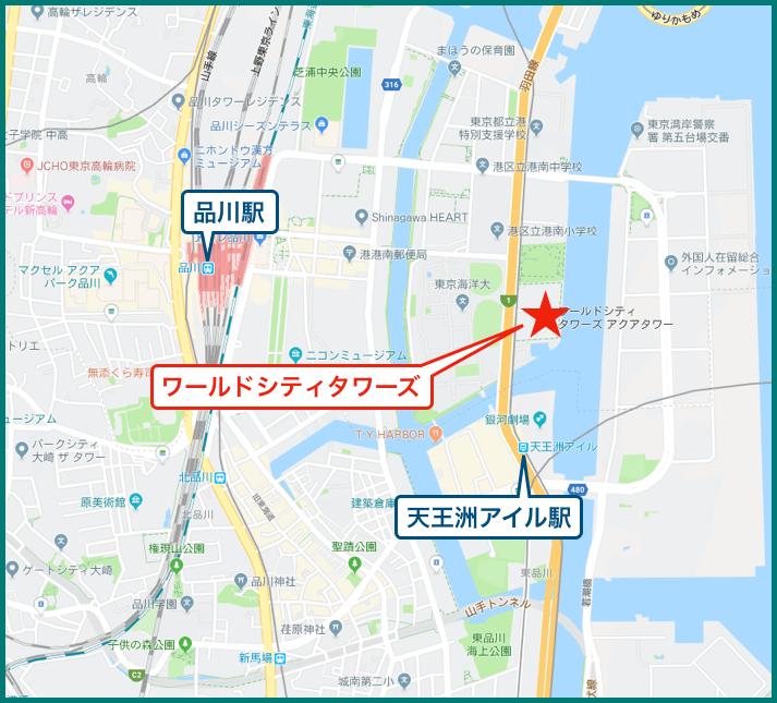 ワールドシティタワーの地図
