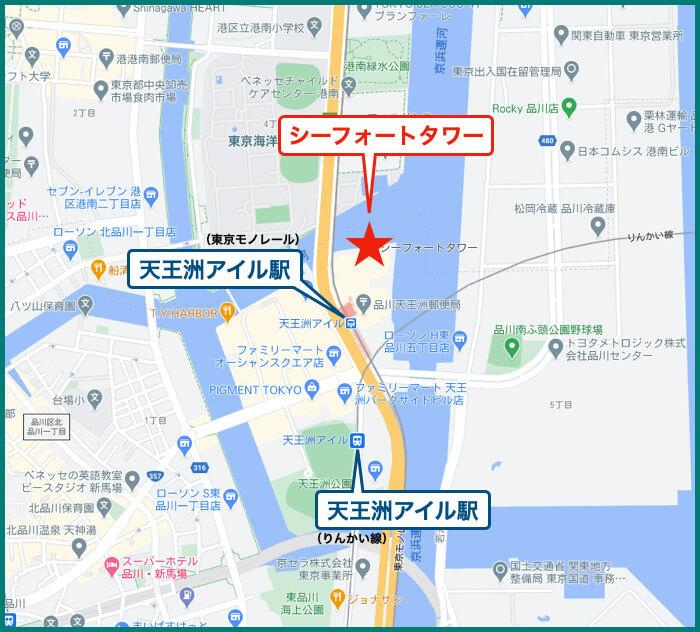 シーフォートタワーの地図