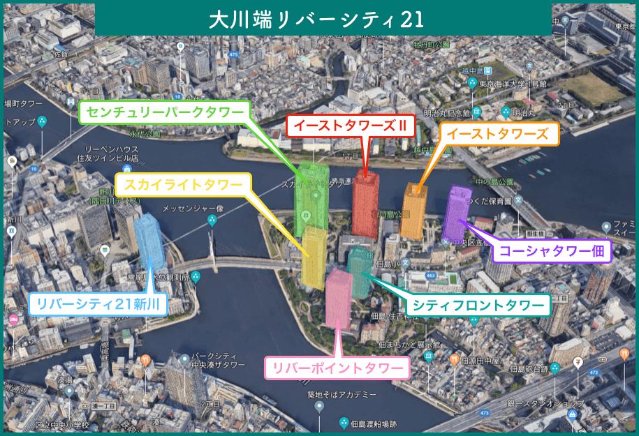 大川端リバーシティ21のイメージ