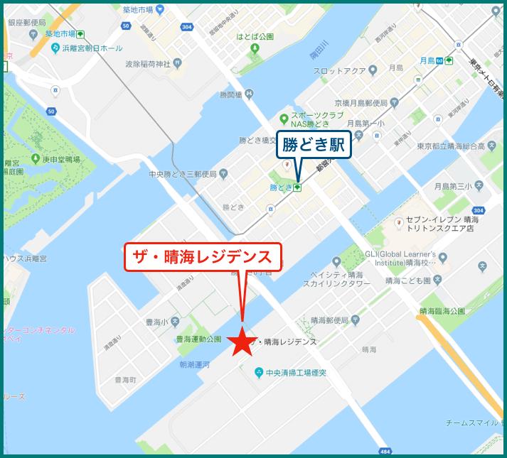 ザ・晴海レジデンスの地図