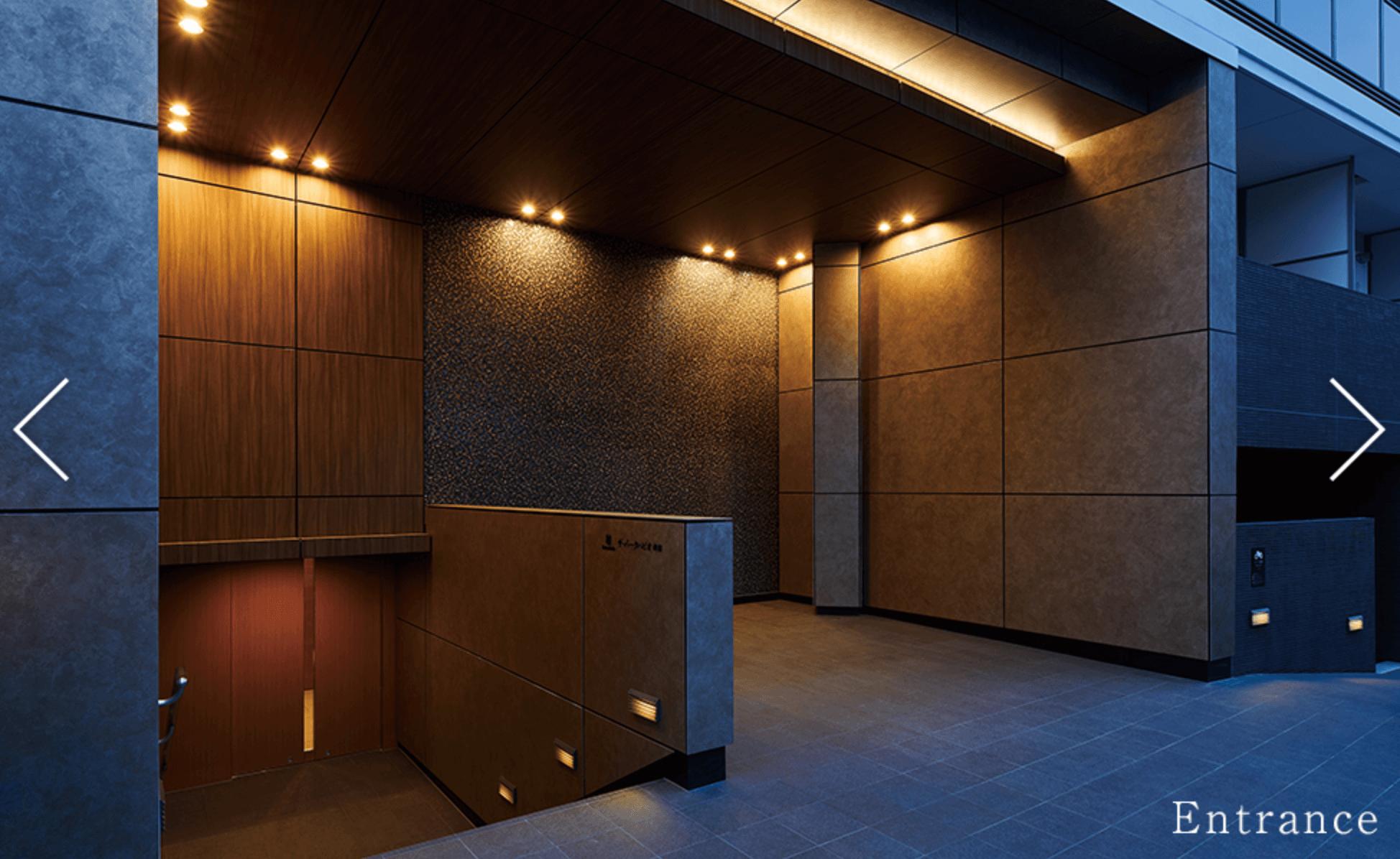 パークハビオ新宿のエントランスホール