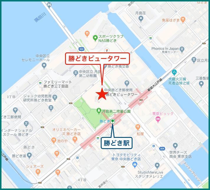 勝どきビュータワーの地図