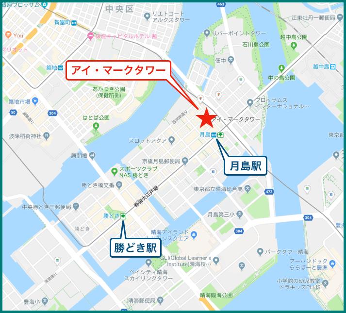 アイ・マークタワーの地図
