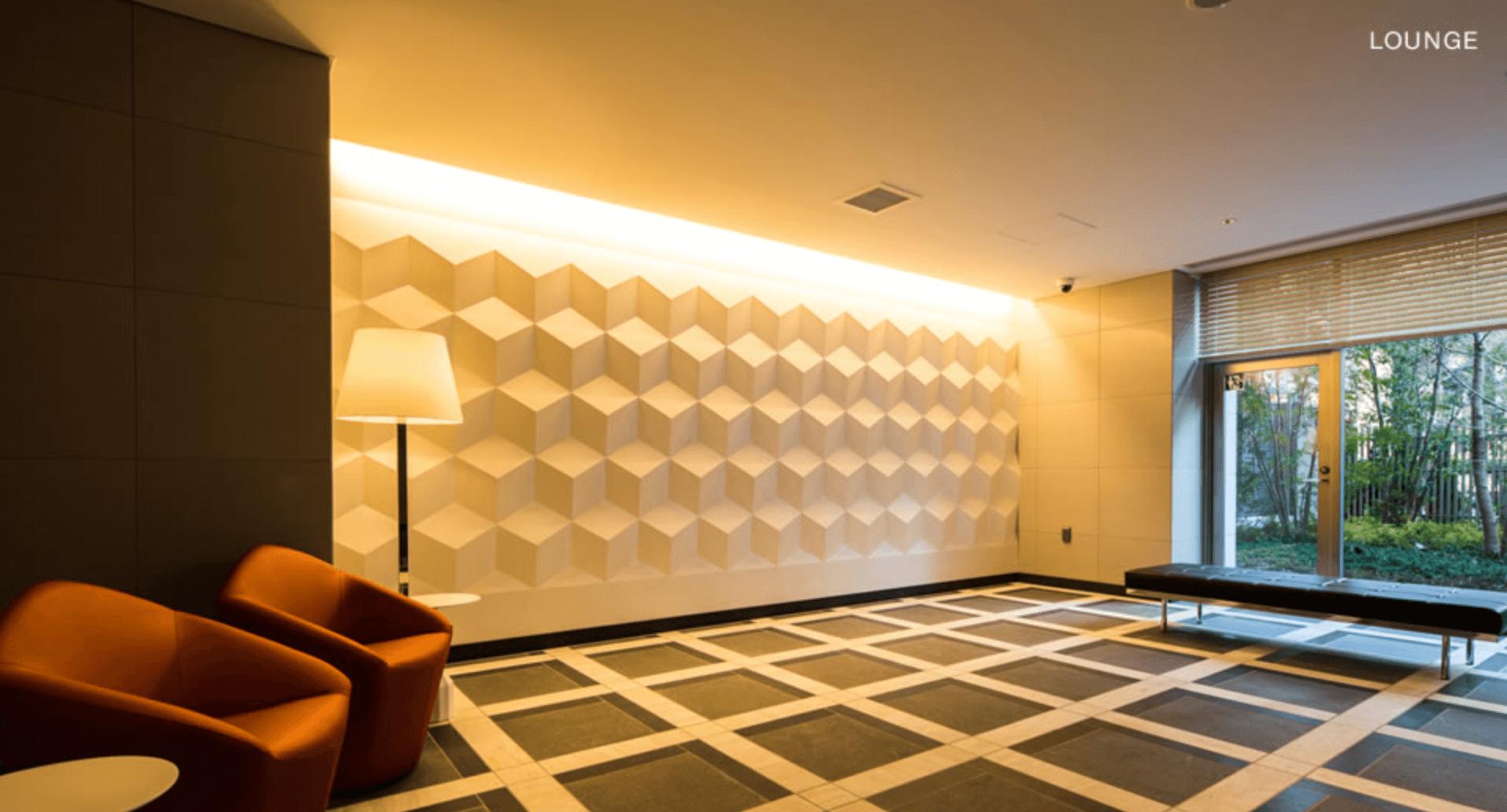 パークハビオ赤坂タワーのエントランスホール