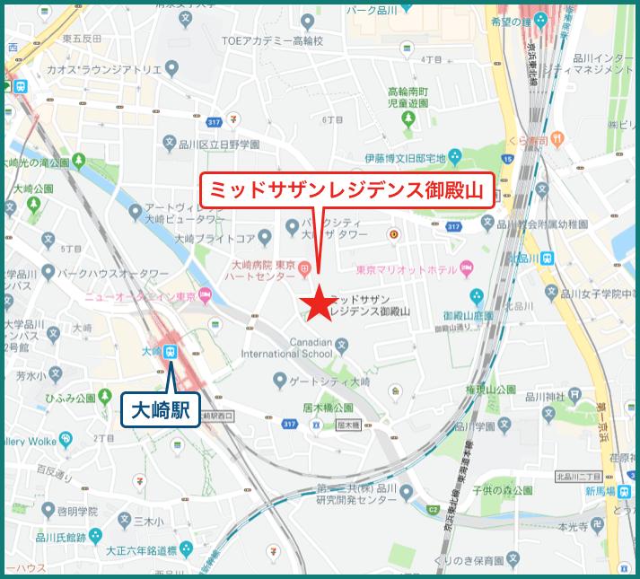 ミッドサザンレジデンス御殿山の地図
