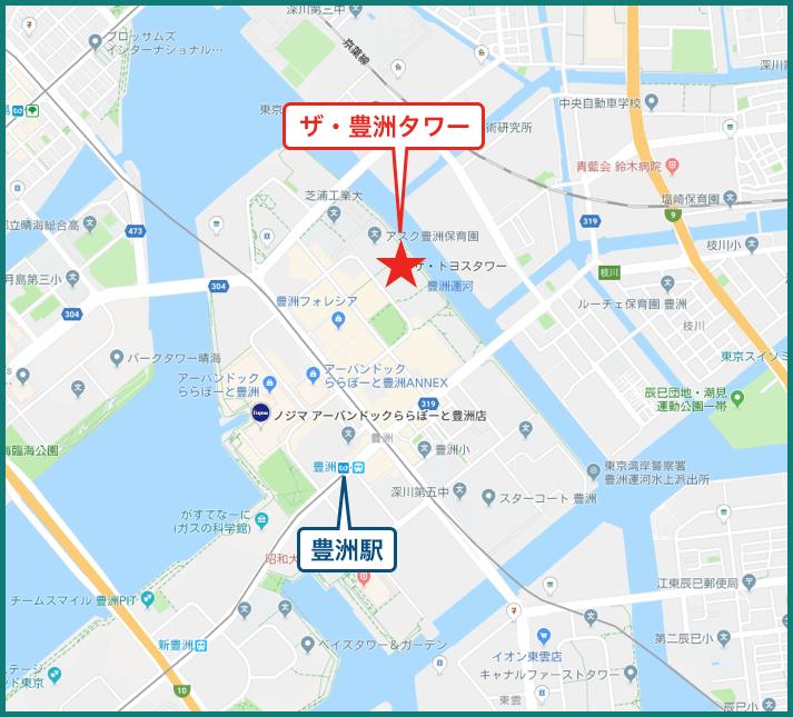 ザ・豊洲タワーの地図