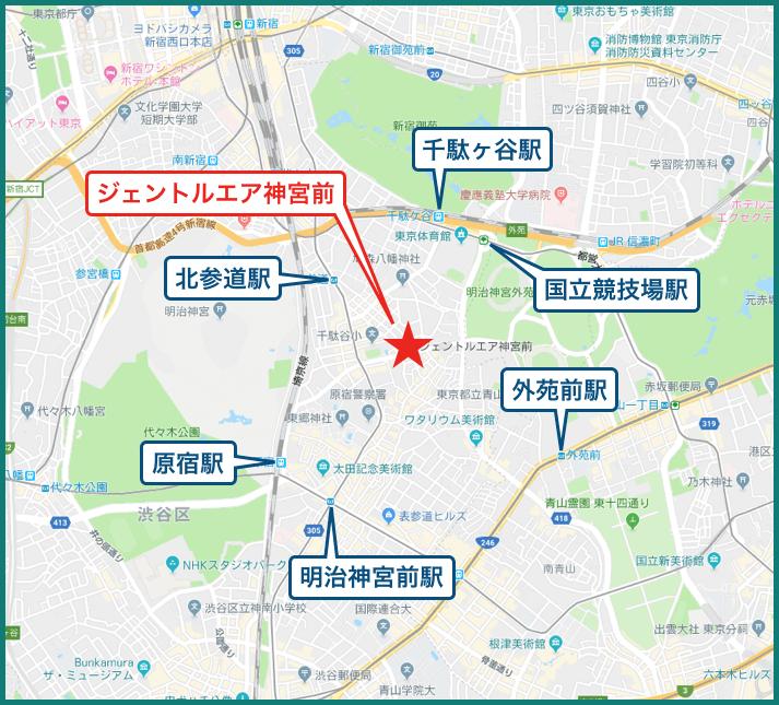 ジェントルエア神宮前の地図