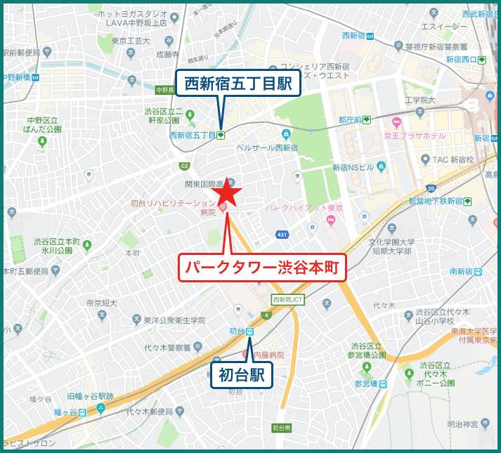 パークタワー渋谷本町の地図