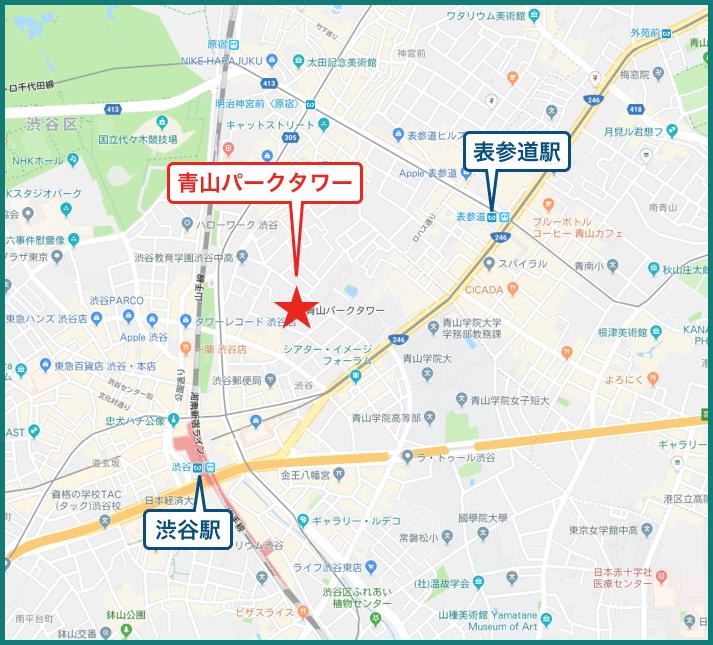 青山パークタワーの地図