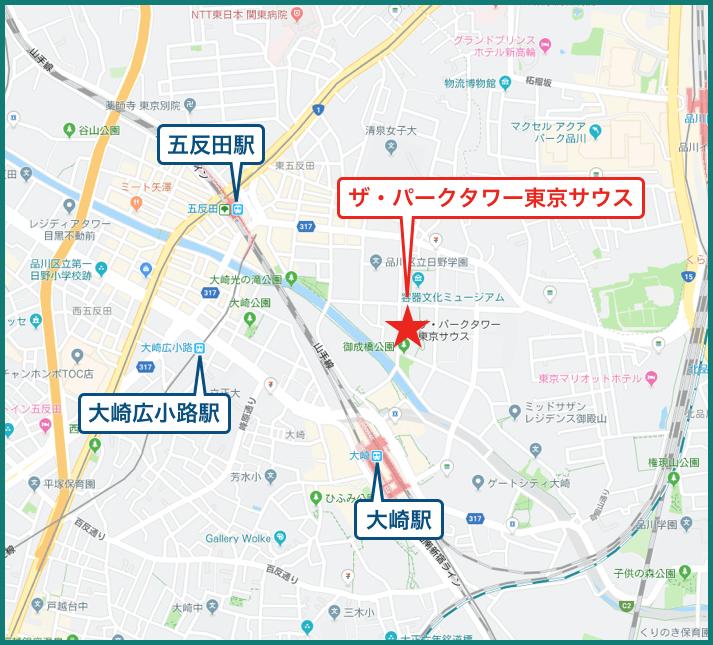ザ・パークタワー東京サウスの地図