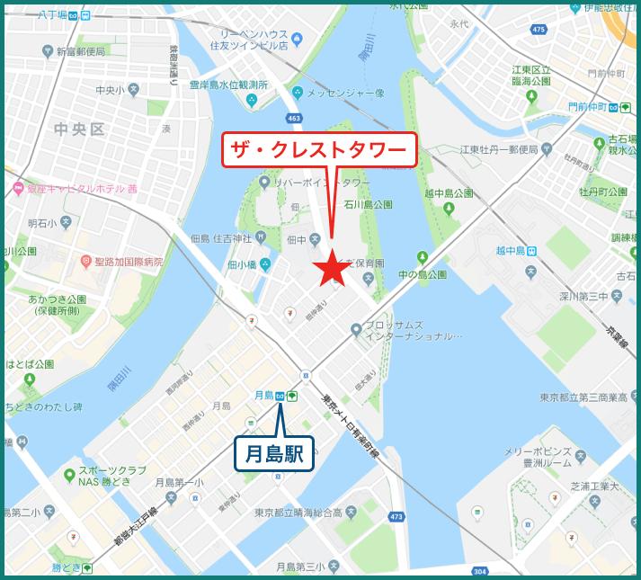 ザ・クレストタワーの地図