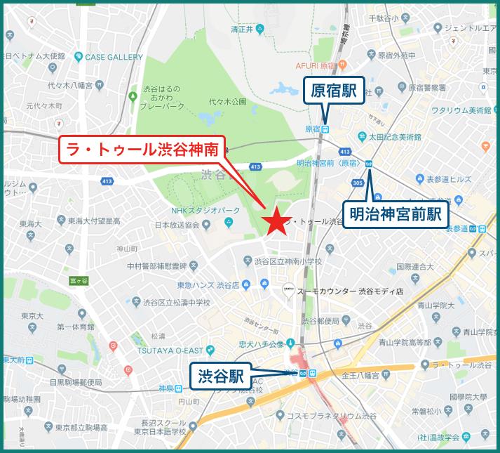 ラ・トゥール渋谷神南の地図