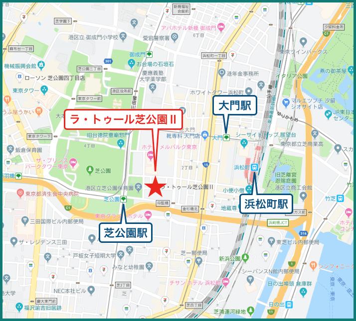 ラ・トゥール芝公園Ⅱの地図