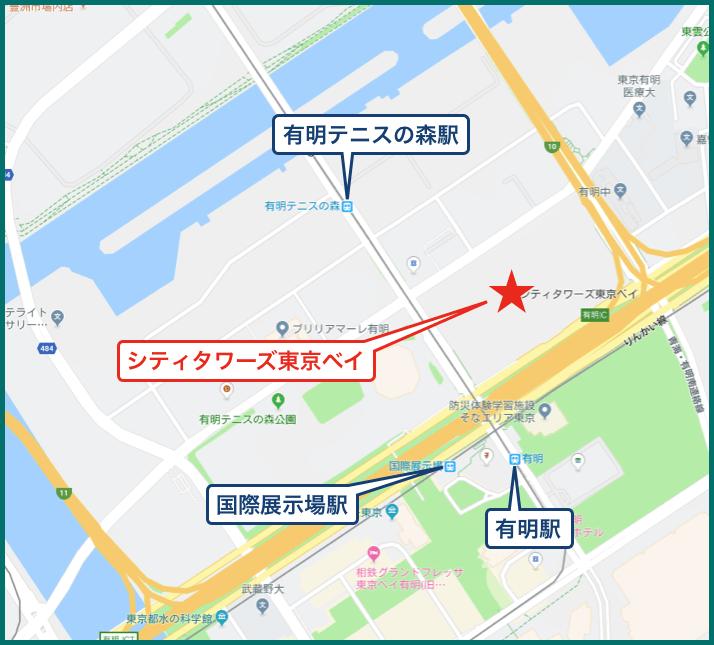 シティタワーズ東京ベイの地図