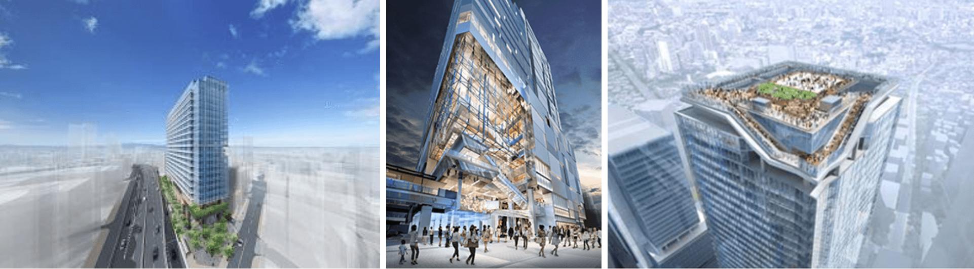 渋谷再開発で立つビル