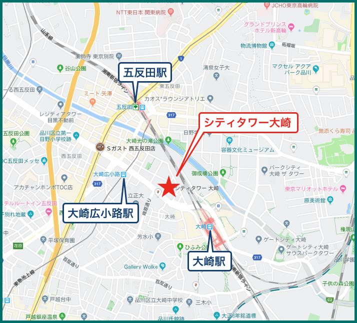 シティタワー大崎ステーションフロントの地図