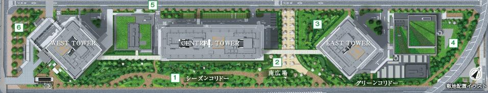 シティタワーズ東京ベイの配置