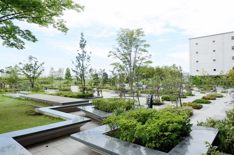 ブリリアマーレ有明タワー&ガーデンの庭園