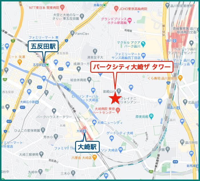 パークシティ大崎ザ タワーの地図