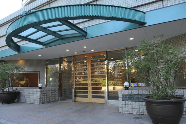 ゲートシティ大崎サウスパークタワーのエントランス