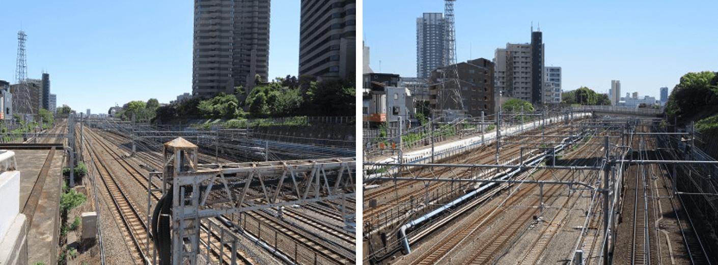 品川駅の線路イメージ