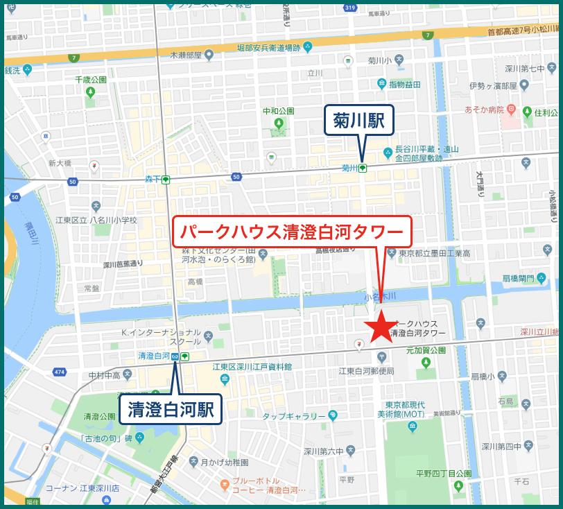 パークハウス清澄白河タワーの地図