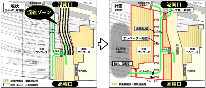 品川駅の駅改良計画イメージ