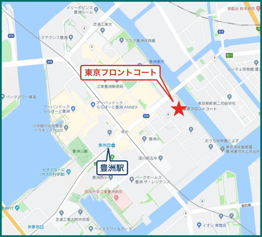 東京フロントコートの地図