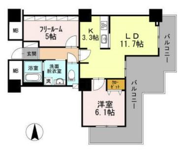 品川シーサイドビュータワーⅡのイメージ1LDK